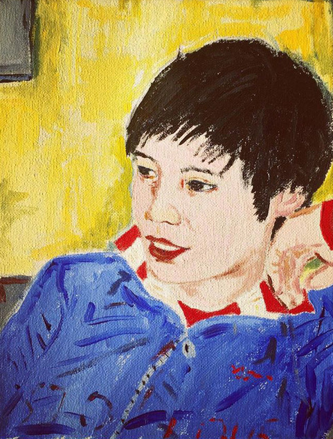 Godfre Leung in painting by Justin Teodoro, 2005